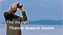 Find the right Financial Research Solution